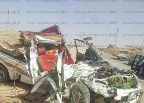 إصابة 11 شخصا في انقلاب سيارة ميكروباص بصحراوي العياط