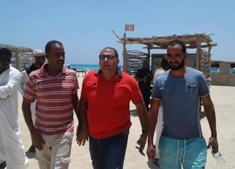 رئيس مدينة مرسى علم يتفقد قرية الشيخ الشاذلي قبل المولد