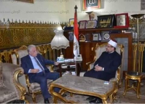 بالصور| وزير الأوقاف يستقبل محافظ جنوب سيناء