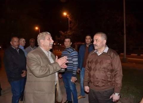 محافظ الإسماعيلية يتفقد الطريق الدائري قبيل زيارة السيسي وبن سلمان