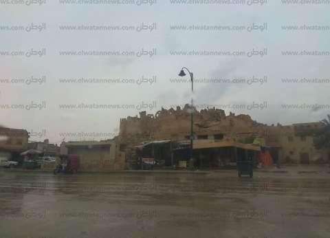 أمطار متوسطة على واحة سيوة في مطروح