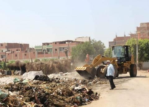 حملة نظافة بقرية القيس ببني مزار في المنيا