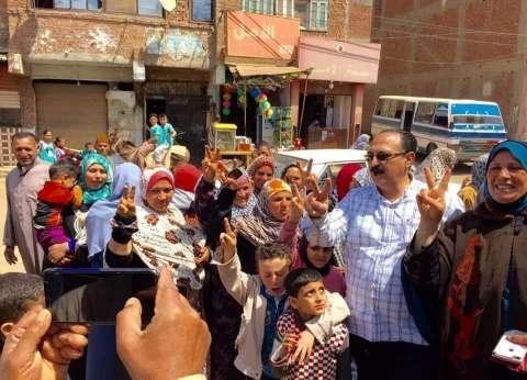 """رئيس """"نقل النواب"""" يقود مسيرة للدعوة للمشاركة بالاستفتاء بالمنوفية"""