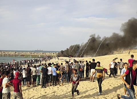 بالأعلام وصور «السيسى».. كرنفال فلسطينى يستقبل وفداً مصرياً فى غزة