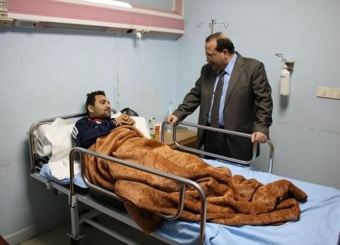 بالصور| رئيس جامعة طنطا يتفقد المستشفى التعليمي