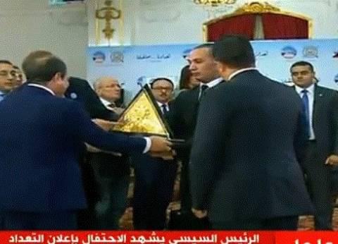 """""""المركزي للإحصاء"""": السيسي أول رئيس يزور مقر الجهاز لمتابعة التعداد"""