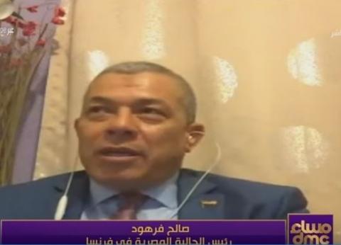 رئيس الجالية بفرنسا: المصريون مشيوا 2 كيلو للمشاركة في الاستفتاء