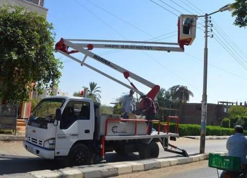 محافظ الإسكندرية يوفر سيارة كهرباء لصيانة أعمدة الإنارة بالاحياء