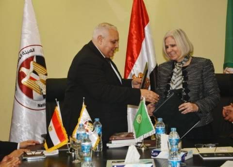 """رئيس """"الوطنية للانتخابات"""" يلتقي أمين عام مساعد الجامعة العربية"""