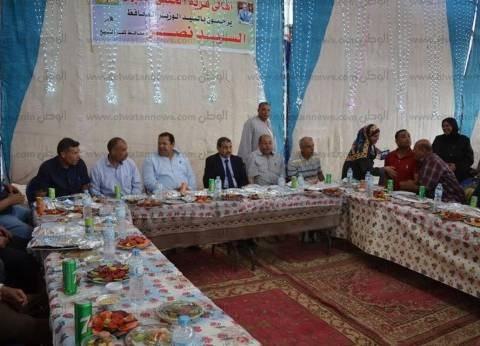 بالصور  سكرتير عام كفر الشيخ يتناول الإفطار مع أهالي قرية ببلطيم