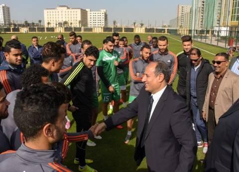 """""""سلطان"""" يشهد تدريب نادي الاتحاد السكندري بالغابة الترفيهية"""