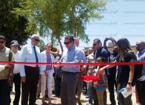 وزير الآثار يفتتح مشروع تخفيض منسوب المياه الجوفية بمعبد إدفو