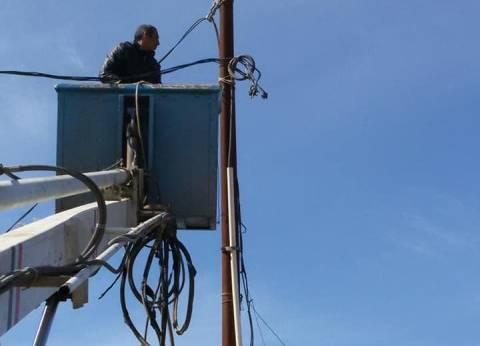 أعمال صيانة للكهرباء بنطاق حي منتزه ثان بالإسكندرية