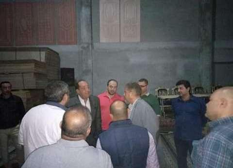 رئيس الغرفة التجارية بدمياط يتابع استعدادات افتتاح منفذ شركة نجع حمادي
