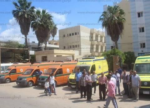 """إصابة 6 أشخاص في تصادم سيارتين """"ميكروباص"""" بالزقازيق في الشرقية"""