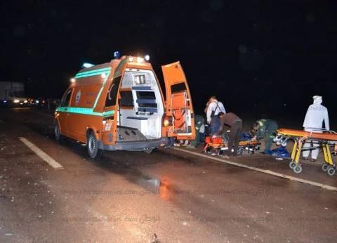 مصرع سيدة وإصابة والدتها في حادث سير بالمنيا