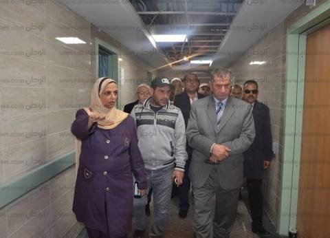 بالصور| محافظ كفر الشيخ يتفقد أعمال إنشاء مستشفى برج البرلس المركزي الجديد