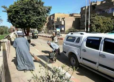 حملة نظافة بشوارع مدينة المراغة بسوهاج اليوم