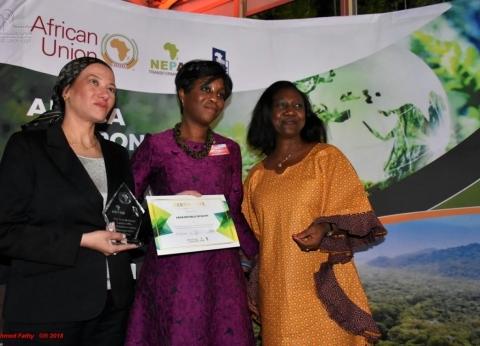 """""""النيباد"""" تكرم ياسمين فؤاد في مؤتمر وزراء البيئة الأفارقة"""