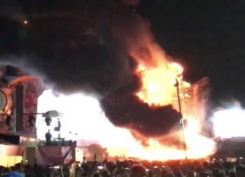 عاجل| نشوب حريق في محطة وقود بكفر الزيات