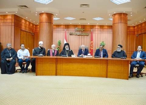محافظ بورسعيد يستقبل المهنئين بعيد الفطر من الأجهزة التنفيذية والشعبية