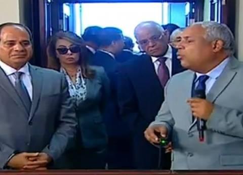 السيسي يستمع لشرح مفصل عن قناطر أسيوط الجديدة والكوبري العلوي
