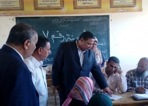 وكيل تعليم الوادي الجديد يتفقد أعمال تقدير درجات الشهادة الإعدادية