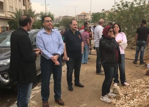 وزير الإسكان يتفقد جهود شفط مياه الأمطار المتراكمة في القاهرة الجديدة