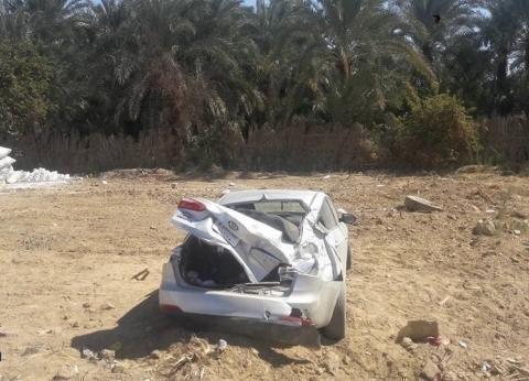 إصابة ضابط شرطة وسائق في انقلاب سيارة بالبحر الصغير في الدقهلية