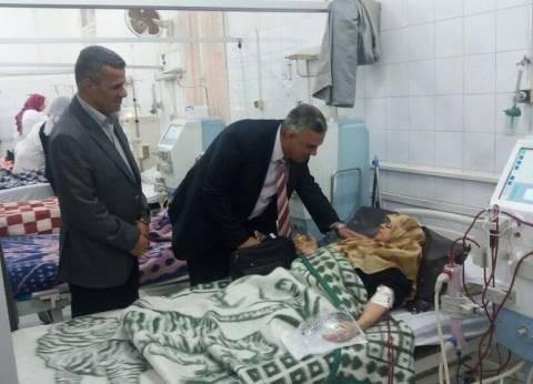 وكيل صحة الإسكندرية يتفقد وحدة الغسيل الكلوي بمعهد البحوث الطبية