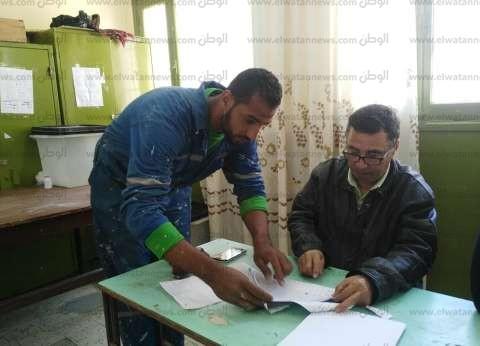 """العاملون بـ""""سيناء للغاز"""" يشاركون في الاستفتاء على تعديل الدستور"""