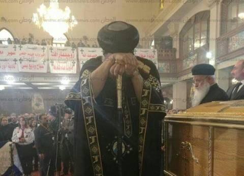عاجل| البابا تواضروس يترأس صلاة الجنازة على شهداء الكنيسة البطرسية