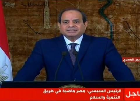 السيسي: ذكرى تحرير سيناء ستبقى عيدا لكل المصريين