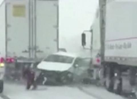 مصرع 5 وإصابة 12 في حادث انقلاب سيارة بصحراوي المنيا