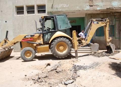 """ربط مستشفى """"أخميم المركزي"""" في سوهاج بخط مياه جديد"""