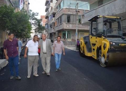 مساعد محافظ كفر الشيخ يتابع أعمال الرصف بغرب المدينة