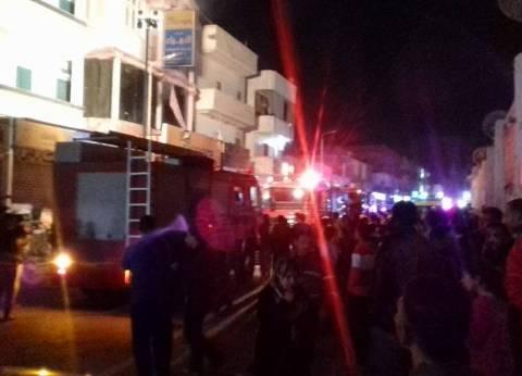 الحماية المدنية تسيطر على حريق بمعرض أدوات كهربائية في طور سيناء