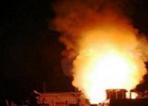 انفجار مدرعة على ساحل البحر أمام نادي الشرطة بالعريش