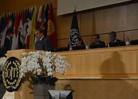 """""""وزراء العمل العرب"""" يعلنون التضامن مع فلسطين بمؤتمر العمل الدولي"""