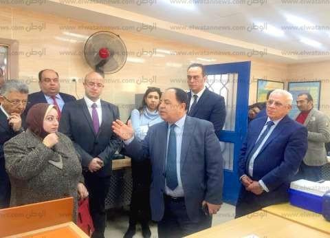 وزير المالية يتفقد وحدتين طبيبتين في بورسعيد
