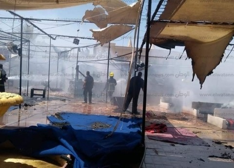 السيطرة على حريق بأحد المقاهي بمنطقة الهضبة بمدينة شرم الشيخ