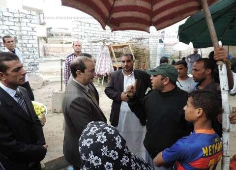 بالصور| مدير أمن مطروح يقود حملة مكبرة ضد غلاء الأسعار بأسواق مطروح