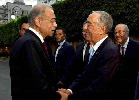 بدء المباحثات بين شريف إسماعيل ورئيس البرتغال