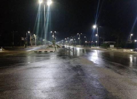 بالصور| أمطار خفيفة على مدينة راس سدر بجنوب سيناء
