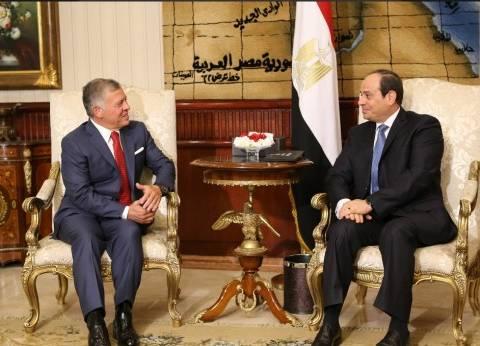 الديوان الملكي الأردني ينشر صورا من مباحثات السيسي وعبد الله الثاني
