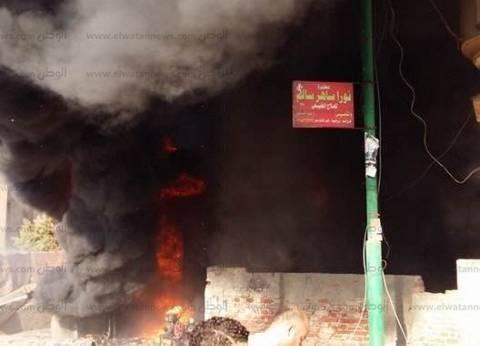 بالصور| تفحم طفلة وإصابة 3 آخرين في حريق هائل بمحطة وقود بالغربية