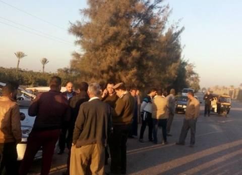 مصرع مواطن وإصابة 3 في حادث تصادم بطريق وادي الريان بالفيوم