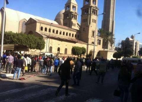 أهالي ضحايا الانفجار يحتشدون أمام الكاتدرائية ويطالبون بإقالة وزير الداخلية