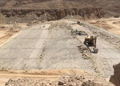 """""""جوفية جنوب سيناء"""": 73% نسبة تنفيذ مشروع حماية وادي زجلة من السيول"""