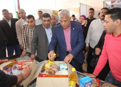 """محافظ المنوفية يفتتح معرض """"أهلا رمضان"""" بشبين الكوم"""